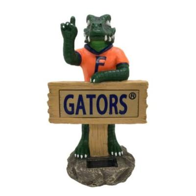 Florida Solar Resin Albert Statue with Sign