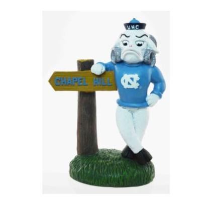 UNC Painted Mascot Figurine with Sign