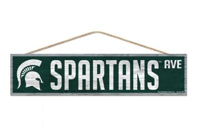 Michigan State Spartans Ave Wood Sign
