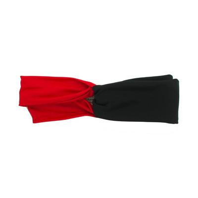 Pomchie Red and Black Two Toned Knotted Headband