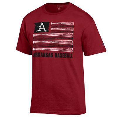 Arkansas Champion Baseball Flag Tee