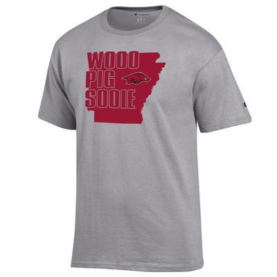 Arkansas Champion State Woo Pig Sooie Tee