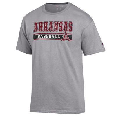 Arkansas Champion Baseball Bar Stack Tee