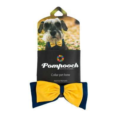 Pomchie Navy and Yellow Pompooch Bowtie