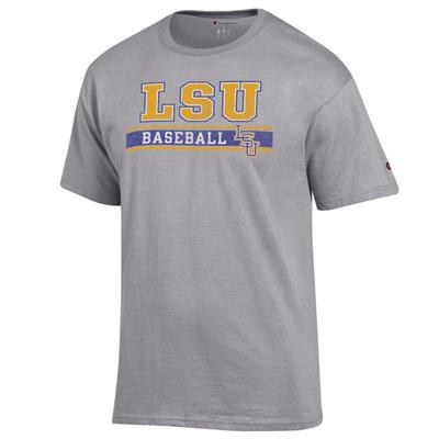 LSU Champion Baseball Bar Stack Tee