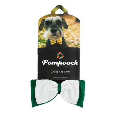 Pomchie Green and White Pompooch Bowtie