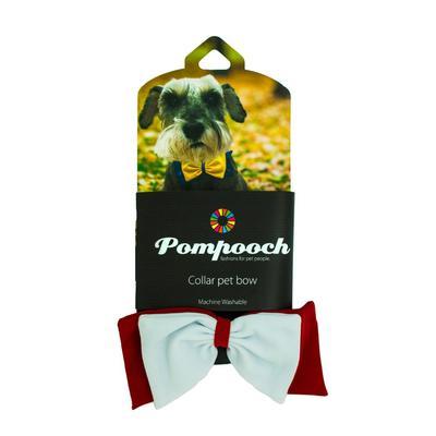 Pomchie Crimson and White Pompooch Bowtie