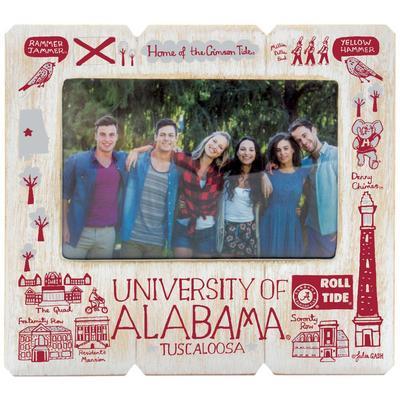 Alabama Julia Gash 4 x 6 inch Distressed Picture Frame