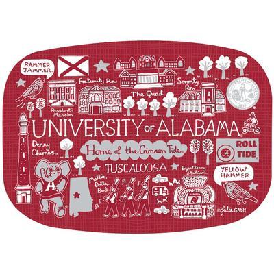 Alabama Crimson Tide Julia Gash 14 inch Serving Platter