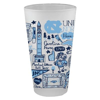 UNC Tar Heels Julia Gash 16oz Frosted Pint Glass