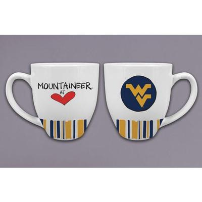 West Virginia Magnolia Lane Heart Mug