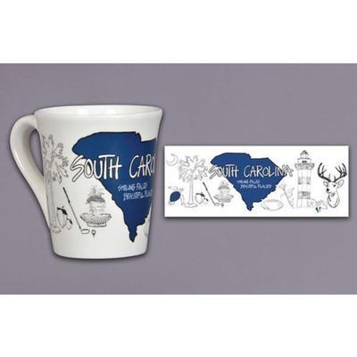 Magnolia Lane State Icons Mug