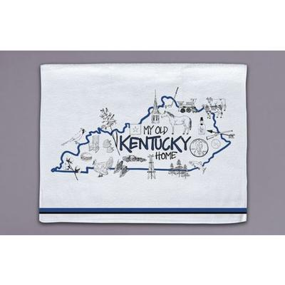 Magnolia Lane State Icons Towel