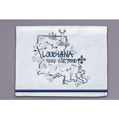 Magnolia Lane State Icons Towel