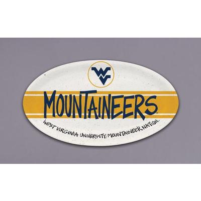 West Virginia Magnolia Lane Melamine Mountaineers Oval Platter