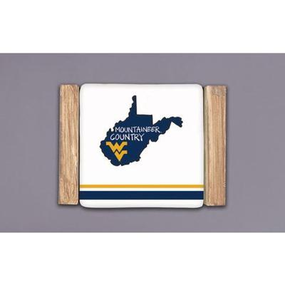 West Virginia Magnolia Lane Mountaineers Country Coaster Set