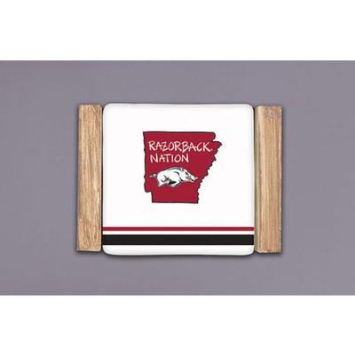 Arkansas Magnolia Lane Coaster Set