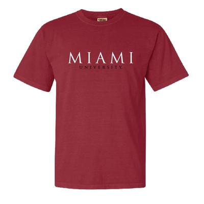 Miami Summit Seaside Font Comfort Colors Short Sleeve Tee