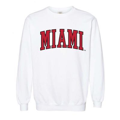 Miami Summit Big Arch Font Comfort Colors Sweatshirt