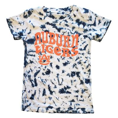 Auburn Wes & Willy Girls Tie Dye Retro Tee