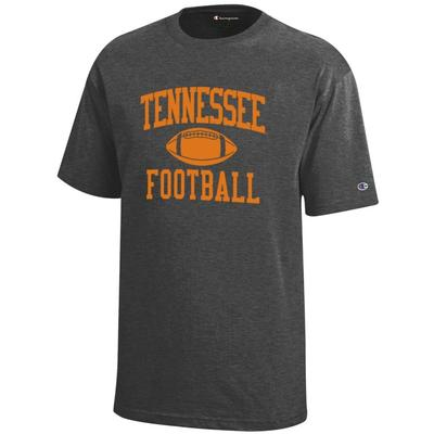 Tennessee Champion Youth Tennessee Football Tee GRANITE_HEATHER