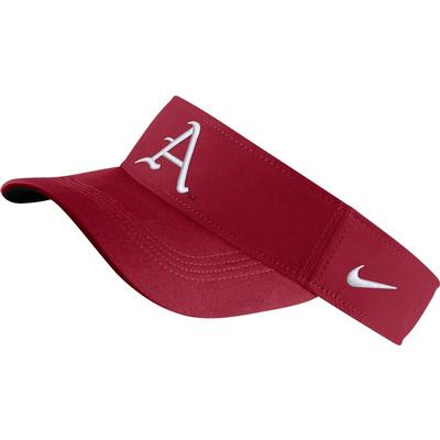 Arkansas Nike Dri-fit A Logo Visor