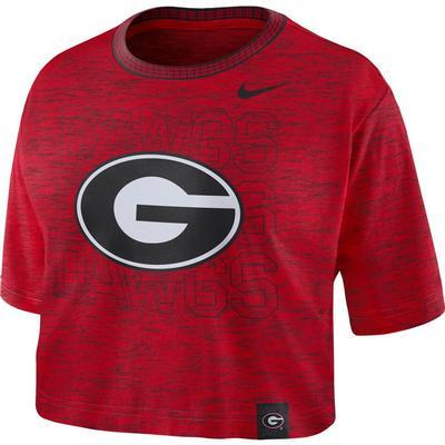 Georgia Nike Women's Slub Crop Tee