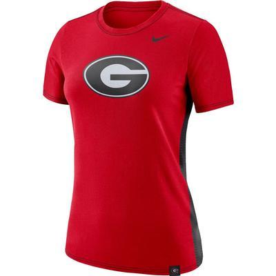 Georgia Nike Women's Breath Short Sleeve Tee