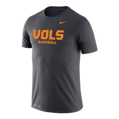 Tennessee Nike Vols Baseball Legend Short Sleeve Tee