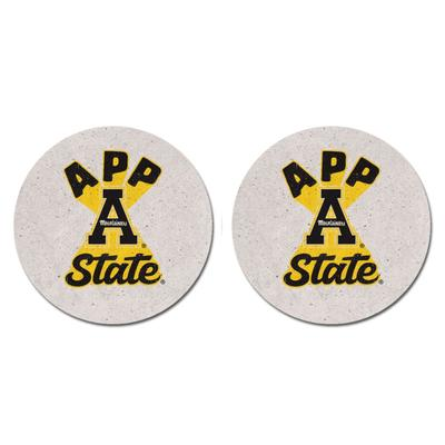 Appalachian State Legacy Retro Over Under 2 pk Car Coasters