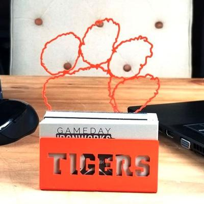 Clemson Paw Logo Business Card Holder