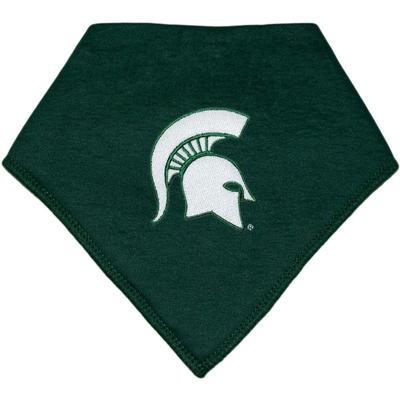 Michigan State Creative Knitwear Bandana Spartan Helmet Print Bib
