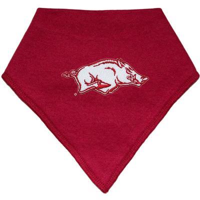 Arkansas Creative Knitwear Bandana Razorback Logo Print Bib