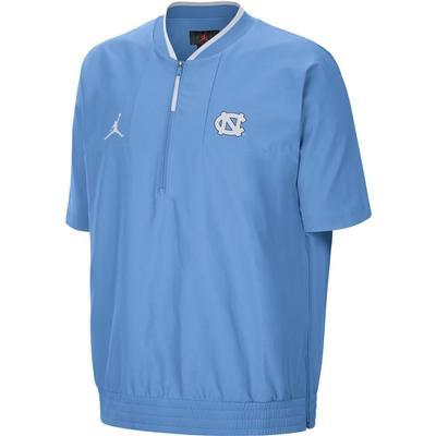UNC Men's Nike Jordan Brand Lightweight Coach Short Sleeve Jacket