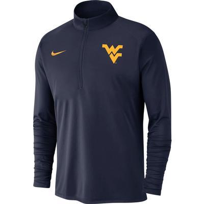 West Virginia Nike Men's Dry Pacer Quarter Zip Pullover
