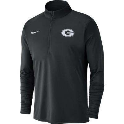 Georgia Nike Men's Dry Pacer Quarter Zip Pullover