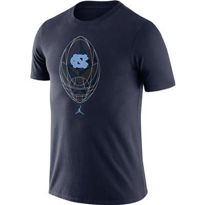 UNC Nike Jordan Brand Men's Legend Modern Football Short Sleeve Tee