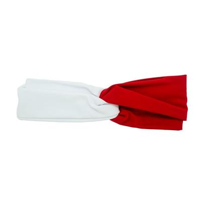 Pomchie Red and White Two Toned Knotted Headband