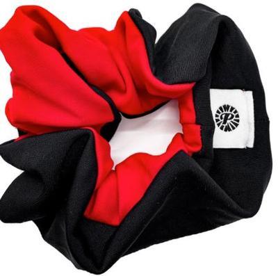 Black & Red Pomchies Scrunchie