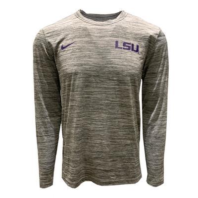 LSU Nike Men's Legend Velocity Long Sleeve Tee