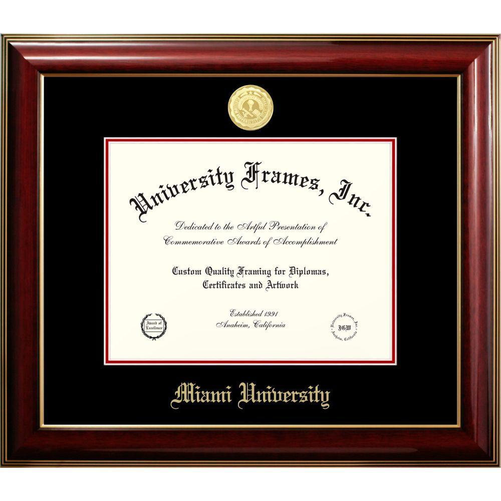 Miami Classic With Medallion Diploma Frame