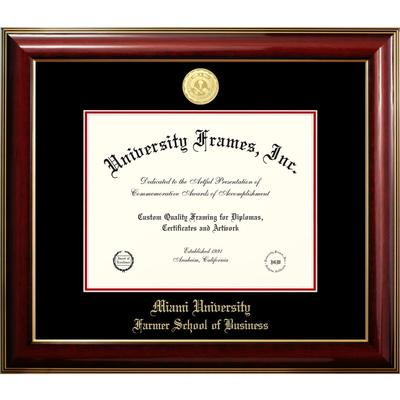 Miami Classic Farmers School of Business Diploma Frame