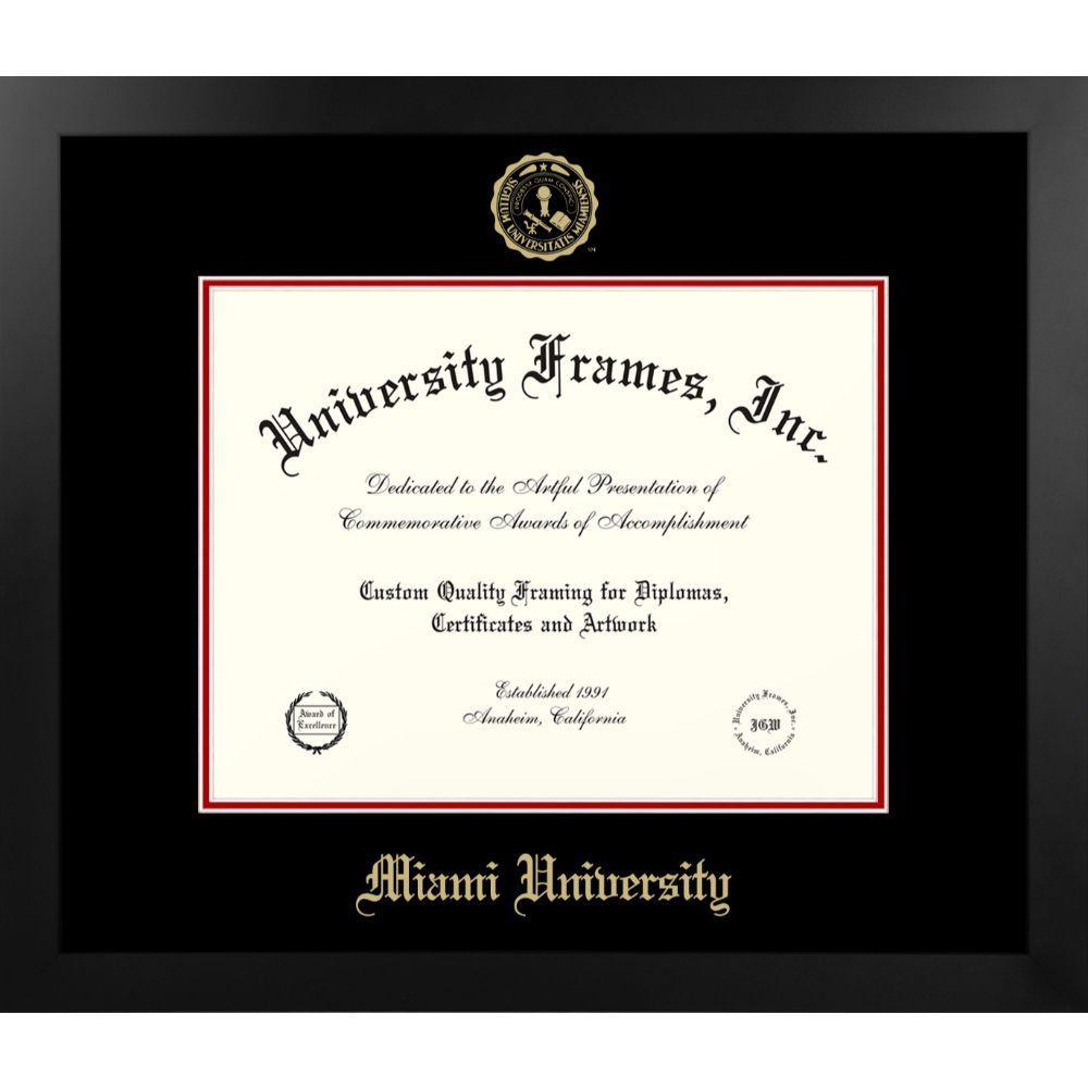 Miami Manhattan With Gold Seal Diploma Frame