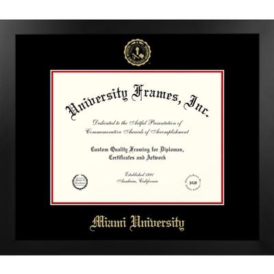 Miami Manhattan with Gold Seal Diploma Frame