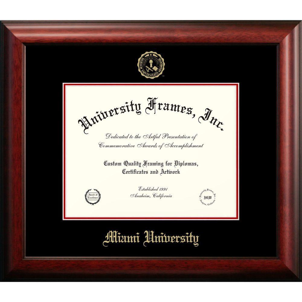 Miami Satin Mahogany Diploma Frame