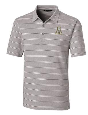 Appalachian State Cutter and Buck Men's Forge Heather Stripe Polo