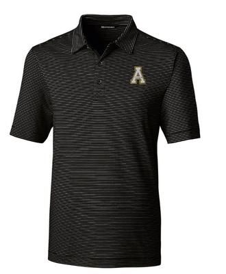 Appalachian State Cutter and Buck Forge Pencil Stripe Polo