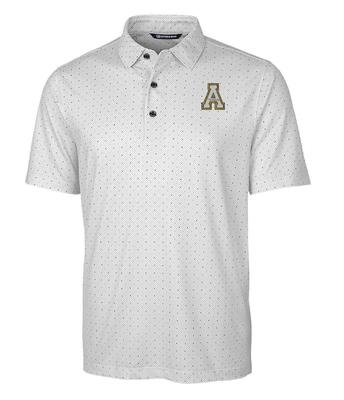 Appalachian State Cutter and Buck Pike Double Dot Print Polo