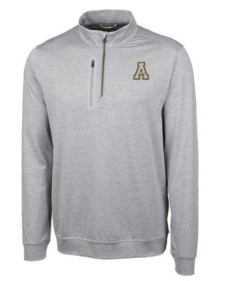 Appalachian State Cutter and Buck Men's Stealth 1/2 Zip Pullover