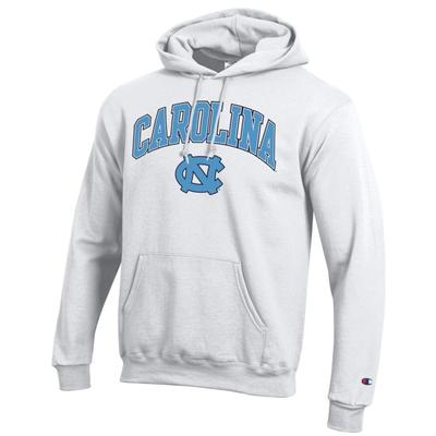 UNC Champion Men's Arch Screen Hoody - White